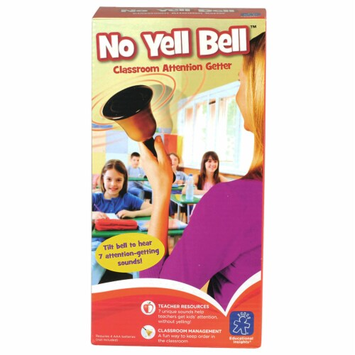 Educational Insights No Yell Bell Classroom Attention-Getter Perspective: front