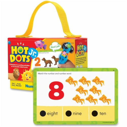 Educational Insights Hot Dots Jr Cards Numbers Counting Perspective: front