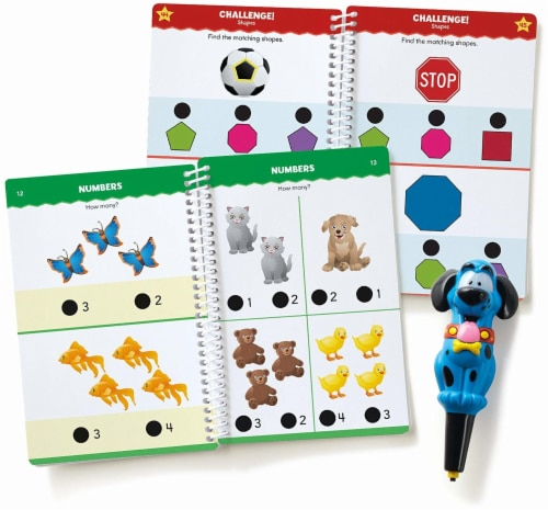 Educational Insights Hot Dots Junior Let's Master Pre-Kindergarten Math Set with Ace Pen Perspective: front