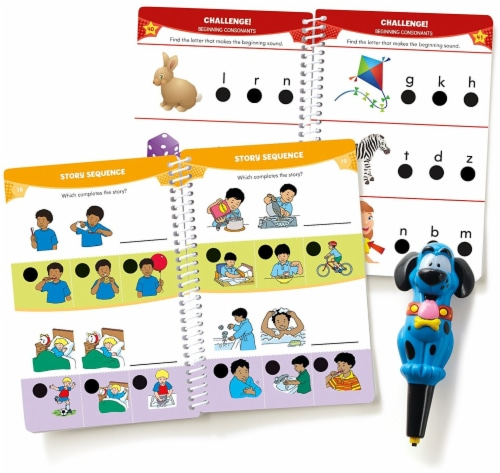 Educational Insights Hot Dots Junior Let's Master Pre-Kindergarten Reading Set with Ace Pen Perspective: front
