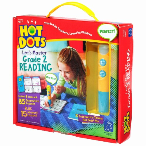 Educational Insights® Hot Dots Junior Let's Master Grade 2 Reading Set with Hot Dots Pen Perspective: front