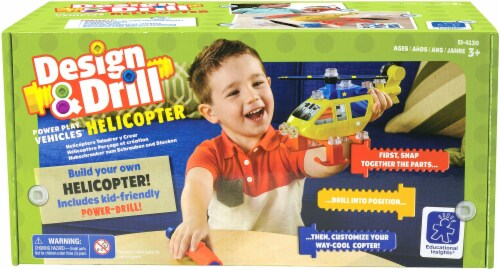 Educational Insights Design and Drill Power Play Vehicles Helicopter Perspective: front
