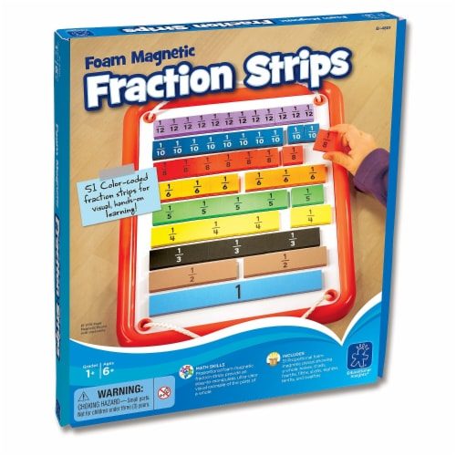 Foam Magnetic Fraction Strips, 51 Pieces Perspective: front