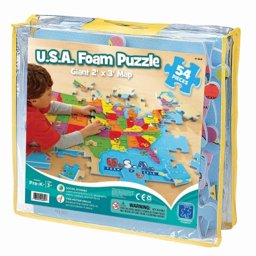 Educational Insights USA Foam Map Puzzle Perspective: front