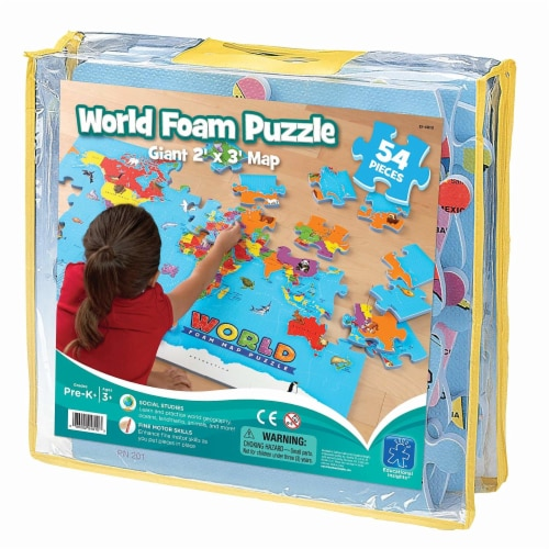 Educational Insights World Foam Map Puzzle Perspective: front