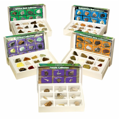 Educational Insights GeoSafari® Complete Rock, Mineral, & Fossil Collections Perspective: front