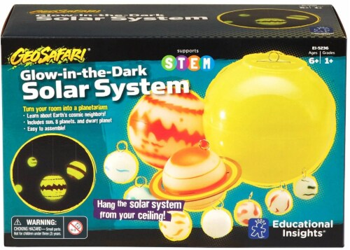 Educational Insights GeoSafari Glow-in-the-Dark Solar System Perspective: front