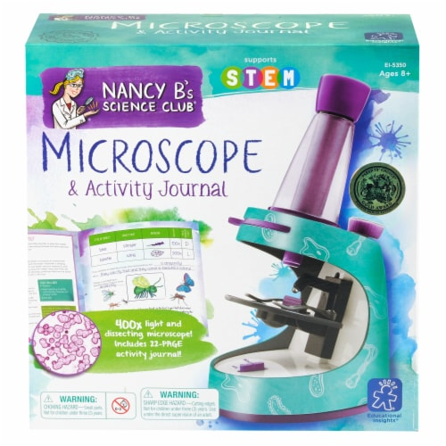 Educational Insights Nancy B's Science Club Microscope and Activity Journal Perspective: front