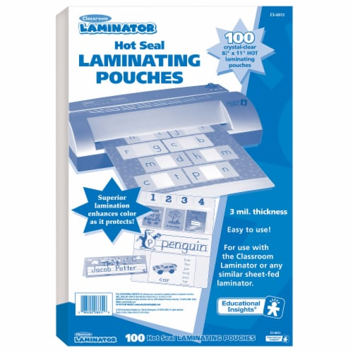 Educational Insights Classroom Laminator Pouches Perspective: front