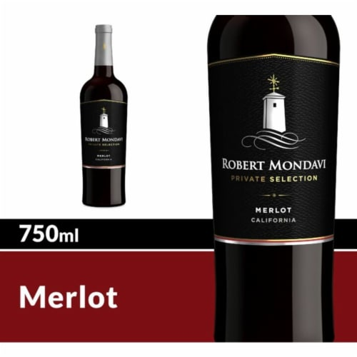 Robert Mondavi Private Selection Merlot Red Wine Perspective: front