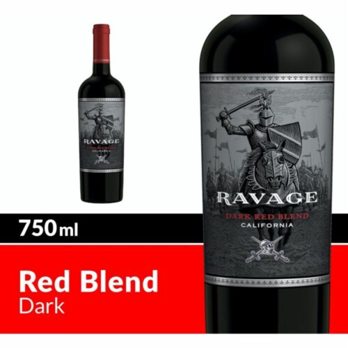 Ravage Dark Red Blend Red Wine Perspective: front