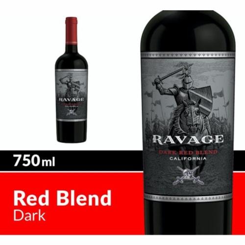 Ravage Dark Red Blend Wine Perspective: front