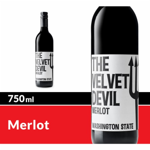 The Velvet Devil by Charles Smith Merlot Red Wine Perspective: front