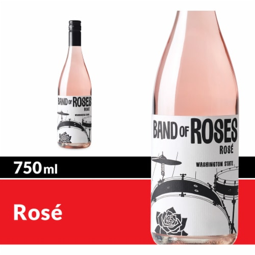 Band of Roses by Charles Smith Rose Blush Wine Perspective: front