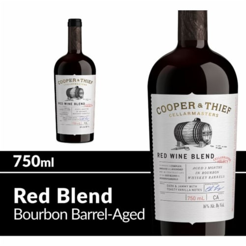Cooper & Thief Bourbon Barrel Aged Red Wine Blend Perspective: front