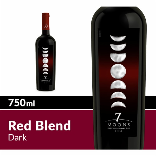 7 Moons Dark Side Red Blend Wine Perspective: front
