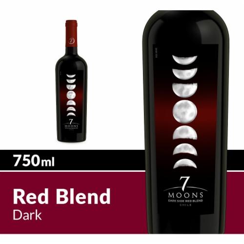 7 Moons Dark Side Red Blend Bottle Wine Perspective: front