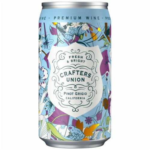Crafters Union Pinot Grigio Canned White Wine Perspective: front