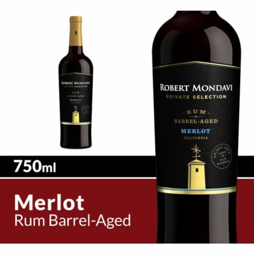 Robert Mondavi Private Selection Rum Barrel Aged Merlot Red Wine Perspective: front