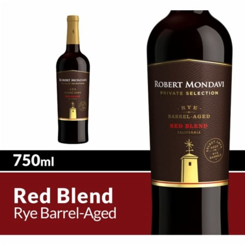Robert Mondavi Private Selection Rye Barrel Aged Red Blend Wine Perspective: front