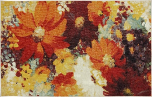 Mohawk Home Catherine Floral Accent Rug Perspective: front