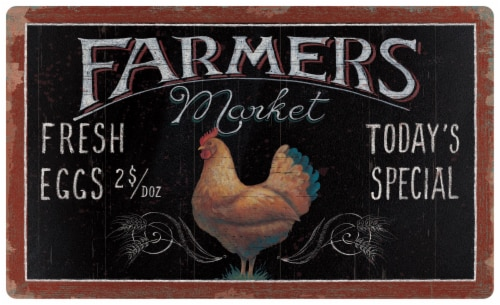 Mohawk Home Farmers Market Floor Mat Perspective: front