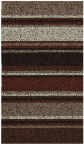 Mohawk Microloop Narrow Rug - Tan/Multi-Color Perspective: front