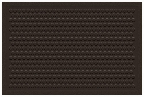 Mohawk Dot Impressions Doormat - Chocolate Perspective: front