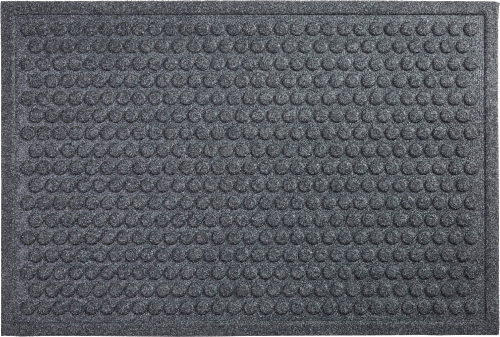 Mohawk Impressions Needle Punch Doormat - Charcoal Perspective: front