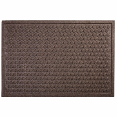 Mohawk Home Dots Impressions Needle Punch Doormat - Chocolate Perspective: front
