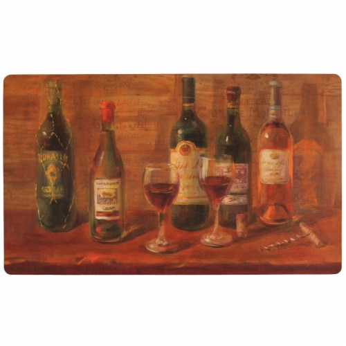 Mohawk Wine Tasting Table Comfort Kitchen Mat Perspective: front