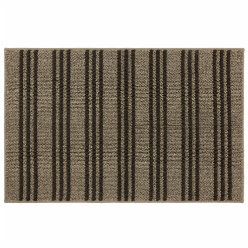 Mohawk Home Accent Rug - Charcoal/Beige Perspective: front