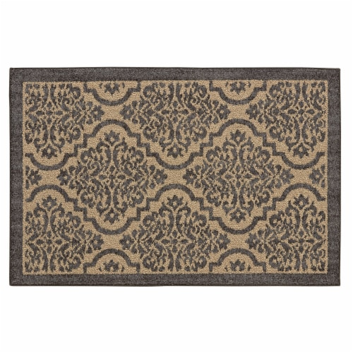 Mohawk Home Mat - Natural/Gray Perspective: front