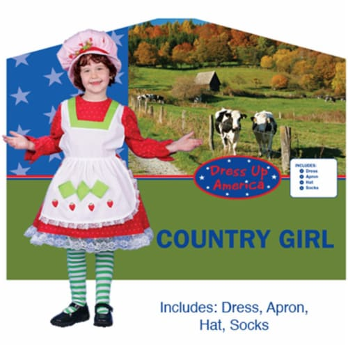 Dress Up America Adorable Country Girl Costume X-Large 16-18 230-XL Perspective: front
