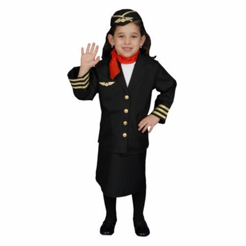 Dress Up America 366-S Flight Attendant Set Costume - Size Small 4-6 Perspective: front