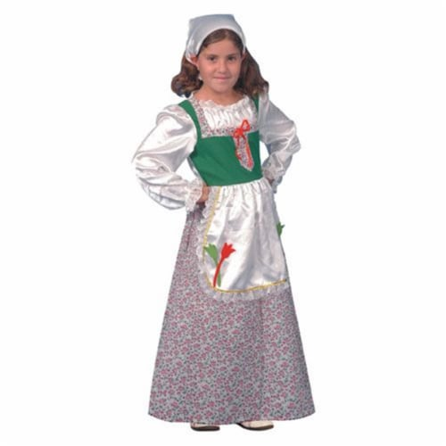 Dress Up America 373-M Dutch Girl Costume - Size Medium 8-10 Perspective: front