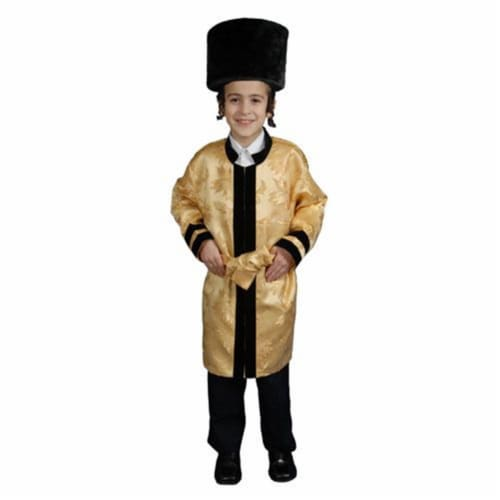 Dress Up America 382-L Kids Jewish Grand Rabbi Robe Costume - Size Large 12-14 Perspective: front