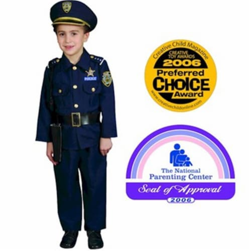 Dress Up America 201-T2 Award Winning Deluxe Police Dress Up Costume Set - Toddler T2 Perspective: front