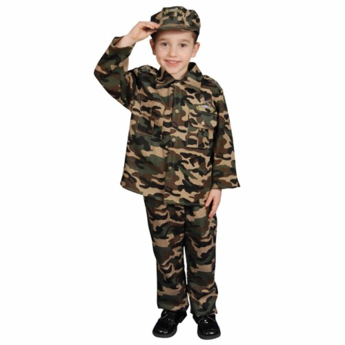 Dress Up America 202-T2 Deluxe Army Dress Up Costume Set - Toddler T2 Perspective: front