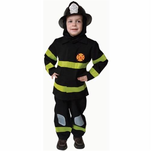 Dress Up America 203-T2 Deluxe Fire Fighter Dress Up Costume Set - Toddler T2 Perspective: front