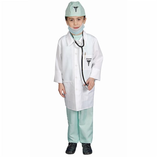Dress Up America 207-T2 Deluxe Doctor Dress Up Costume Set - Toddler T2 Perspective: front
