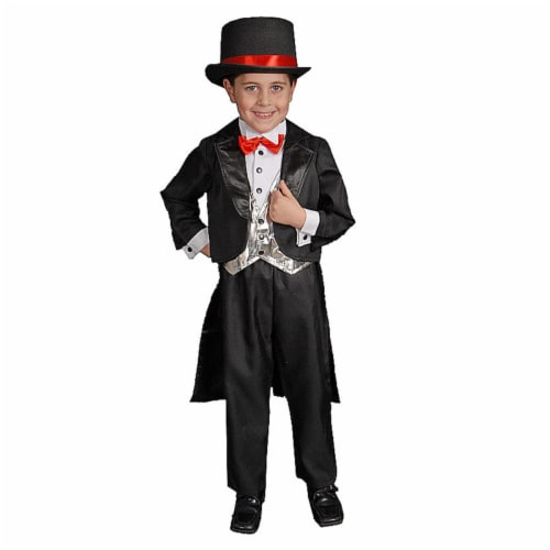 Dress Up America 428-S Black Tuxedo - Small 4-6 Perspective: front