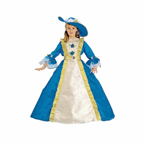 Dress Up America 434-M Blue Princess - Medium 8-10 Perspective: front