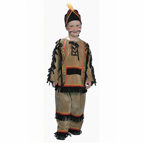 Dress Up America 208-T2 Deluxe Native American Boy Costume Set - Toddler T2 Perspective: front