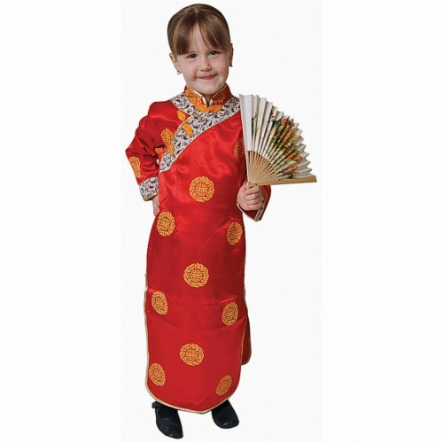 Dress Up America 212-T2 Chinese Girl Dress Up Costume - Toddler T2 Perspective: front