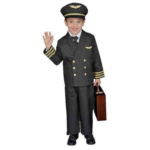 Dress Up America 365-T2 Pilot Boy Jacket - Size Toddler T2 Perspective: front