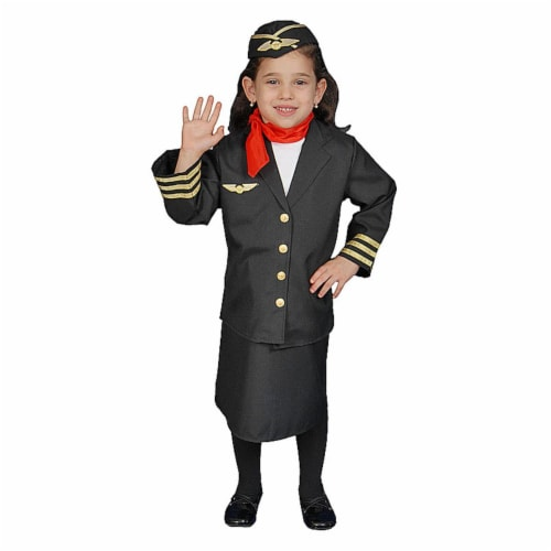 Dress Up America 366-T2 Flight Attendant Set - Size Toddler T2 Perspective: front