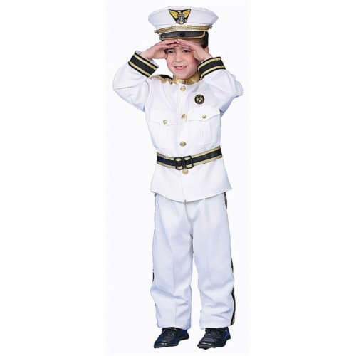 Dress Up America 229-T2 Deluxe Navy Admiral Costume Set - Toddler T2 Perspective: front