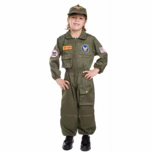 Costumes For All Occasions UP487MD Air Force Pilot Medium Perspective: front
