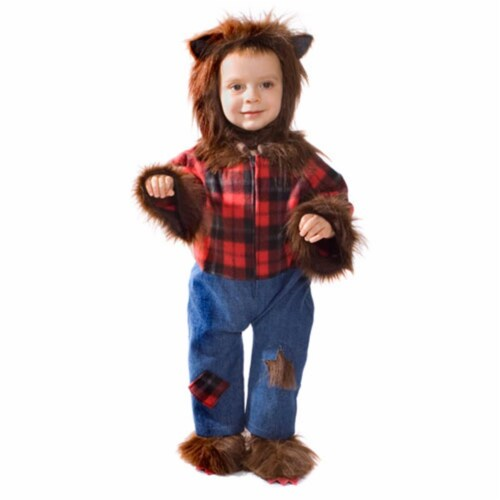Dress Up America 489-T4 Baby Wolfman Costume - Size T4 Perspective: front